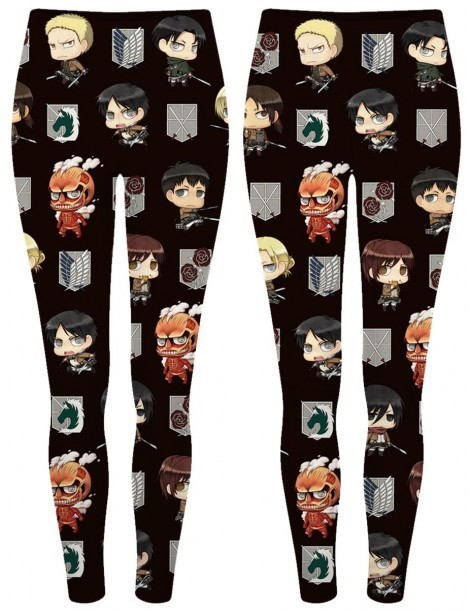 Attack on Titan Printed Tights Pants Leggings