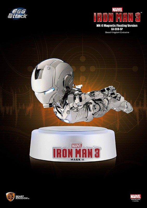 IRON MAN 3 - IRON MAN MARK II MAGNETIC FLOATING EGG ATTACK STATUE