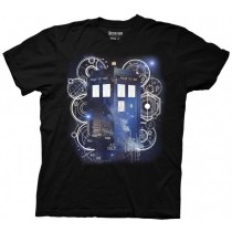 Dr.Who Tardis Space Tech Black T-Shirt